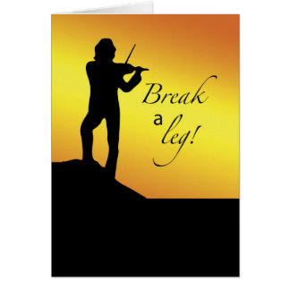 Musical Good Luck, Break a Let, Fiddler, Roof Card