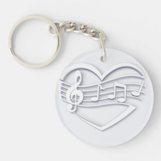 Musical heart keychain