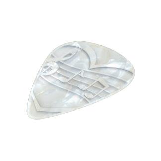 Musical heart pearl celluloid guitar pick