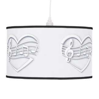 Musical heart pendant lamp