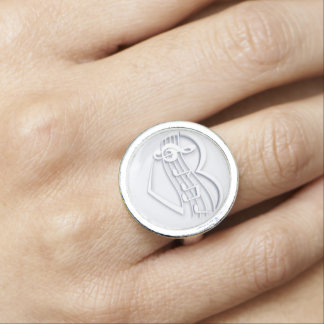 """Musical heart"" Photo Ring"