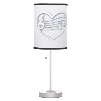 Musical heart table lamp