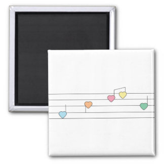 Musical Hearts Magnet