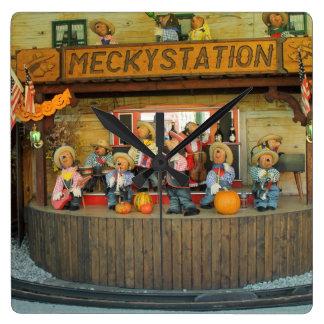 Musical Hedgehogs Cowboy Band Clock