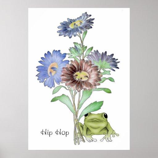 Musical Hip Hop Frog Poster