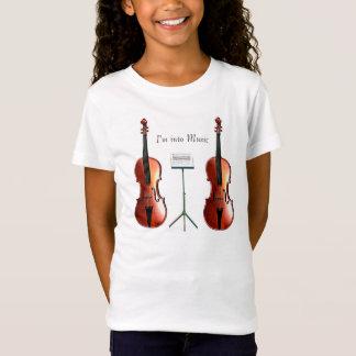 Musical image for Girls-Baby-doll-T-Shirt-White T-Shirt
