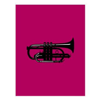 Musical instrument cornet - Musicians Postcard