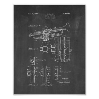 Musical Instrument Patent - Chalkboard Poster