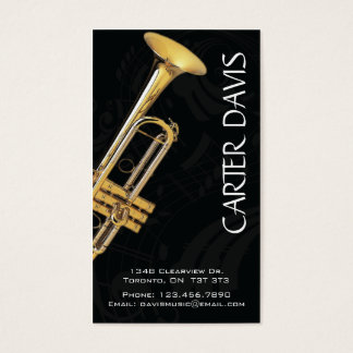 Musical Instrument - Trumpet Business Card