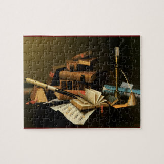 Musical Instruments and Books Jigsaw Puzzle