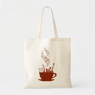 Musical Instruments And Notes Tote Bag