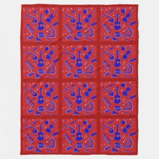 Musical Instruments Fleece Blanket