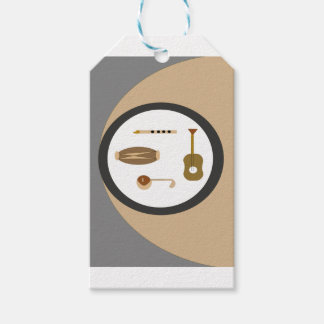 musical instruments gift tags