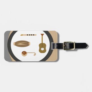 musical instruments luggage tag