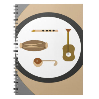 musical instruments notebooks