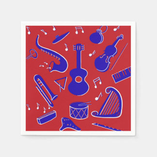 Musical Instruments Paper Napkins