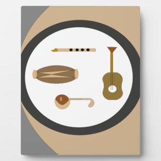 musical instruments plaque