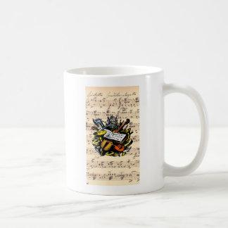 Musical Instruments ~ Rossini Music Background Coffee Mug