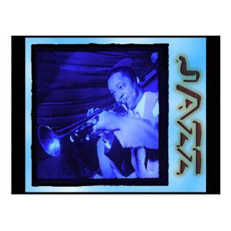 Musical Interludes: Vintage Jazz Postcard