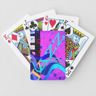 Musical Jazz Style Background Bicycle Playing Cards