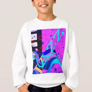 Musical Jazz Style Background Sweatshirt