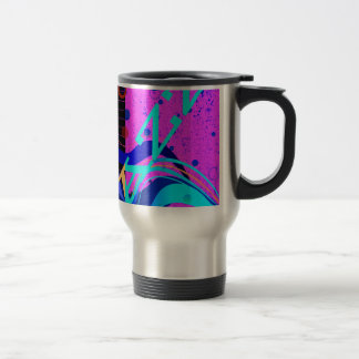 Musical Jazz Style Background Travel Mug