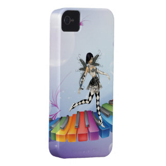 Musical Keyboard Faerie iPhone 4 Cases