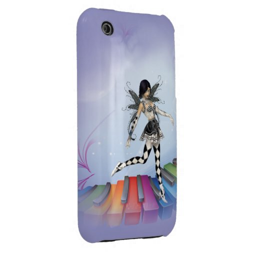 Musical Keyboard Faerie Vignette Case-Mate iPhone 3 Cases