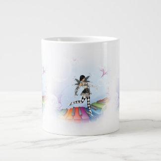 Musical Keyboard Faerie Vignette Large Coffee Mug