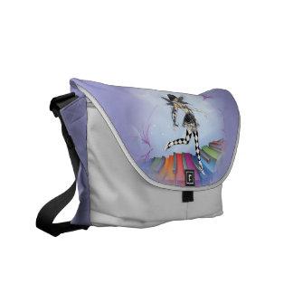 Musical Keyboard Faerie Vignette Courier Bag