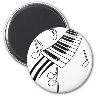 Musical Keys 2 Inch Round Magnet