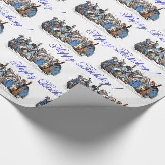 MUSICAL LANGUAGE ANIMAL FARM ORCHESTRA Birthday Wrapping Paper