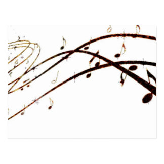 Musical Lava Notes Products Postcard