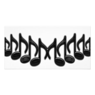 """Musical Letter """"M"""" Customized Photo Card"""