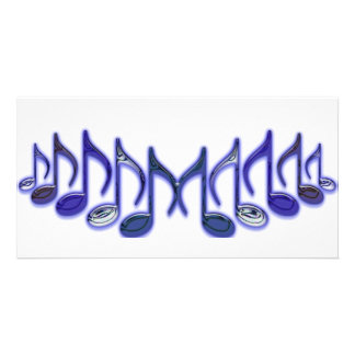 """Musical Letter """"M"""" Photo Card Template"""