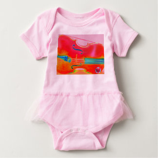 Musical Lifetimes Baby Red Cello Tutu Bodysuit