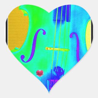 Musical Lifetimes Heart Green Cello Music Sticker