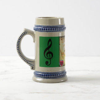 Musical Lifetimes Piano Keys Stein Drinking Mug
