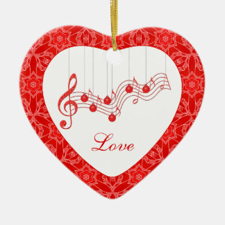 Musical Love Forever Keepsake Ceramic Ornament
