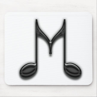 "Musical ""M"" Letter Mouse Pad"