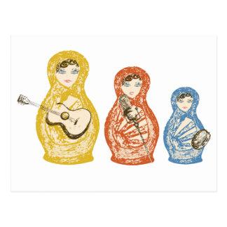 Musical Matryoshka Dolls Postcard