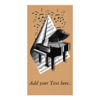 Musical  moments - Piano Customized Photo Card