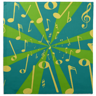 Musical Noise Background Napkin