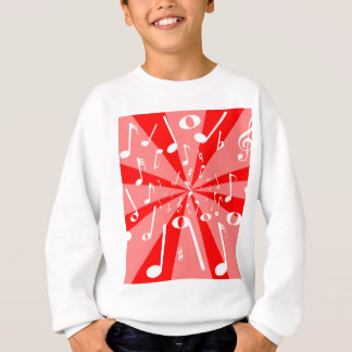 Musical Noise Background Sweatshirt