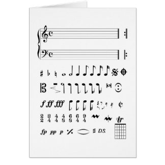 Musical Notation Card
