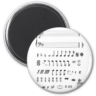 Musical Notation Magnet