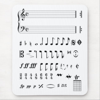 Musical Notation Mouse Pad