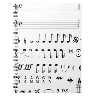 Musical Notation Spiral Notebook