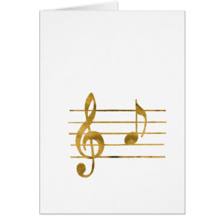 Musical Note A Card