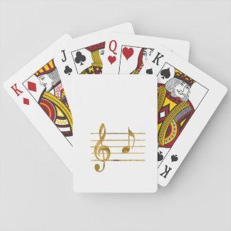 Musical Note A Poker Deck